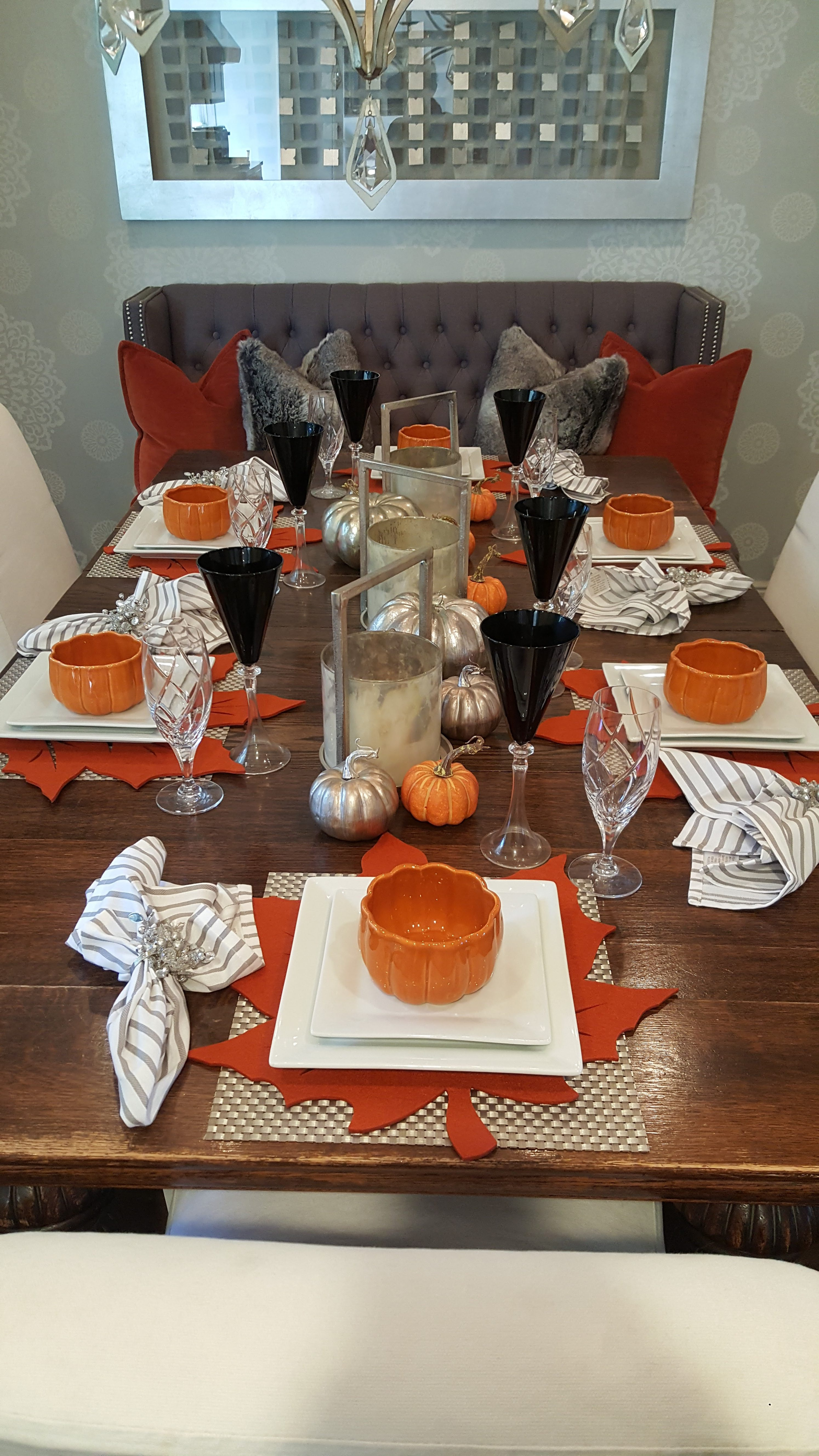 Simple Ideas for Fall Table Settings 7