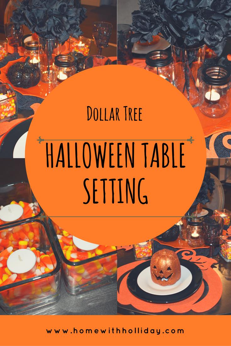 Dollar Tree Halloween Table Setting