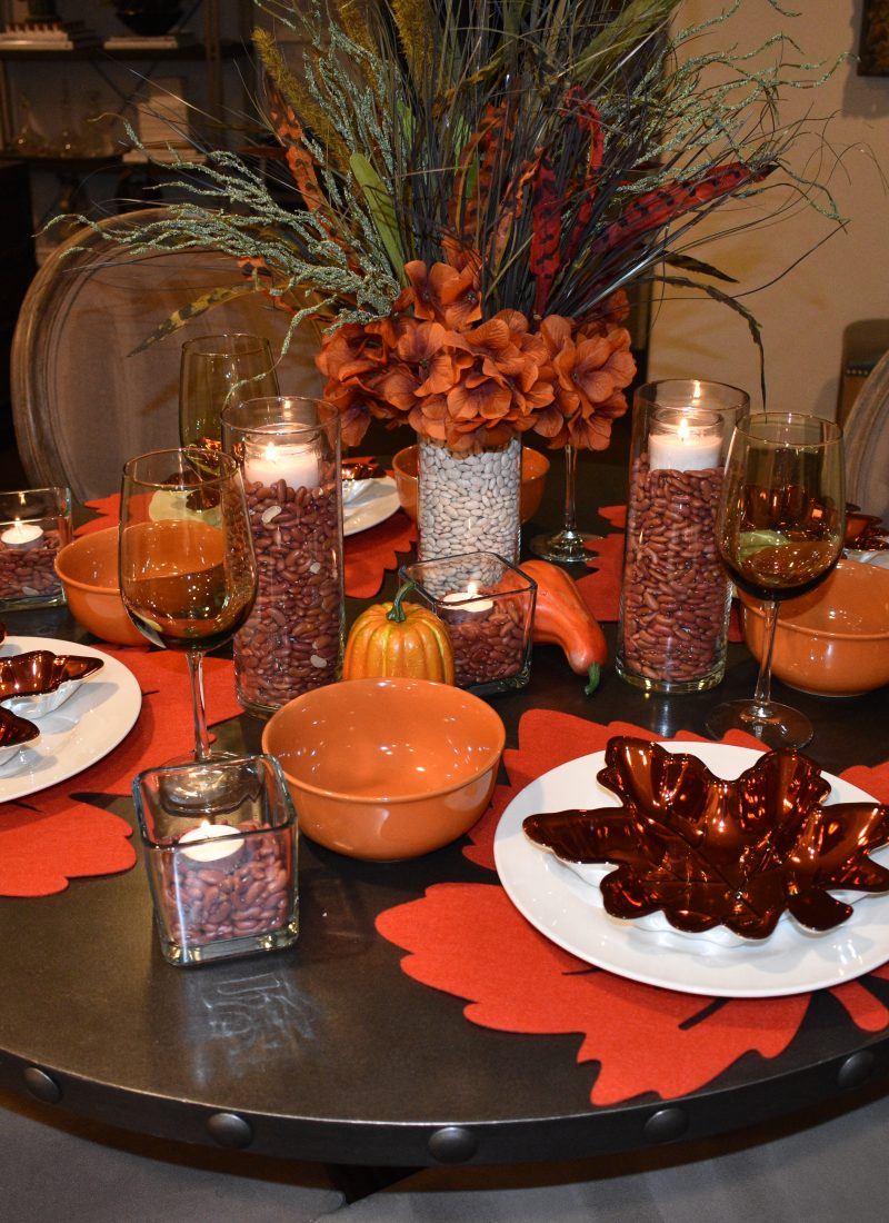 Dollar Tree Fall/Thanksgiving Table Setting