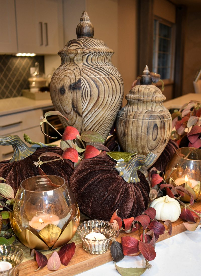 Creative Ideas for Fall or Thanksgiving Table Settings and Home Decor