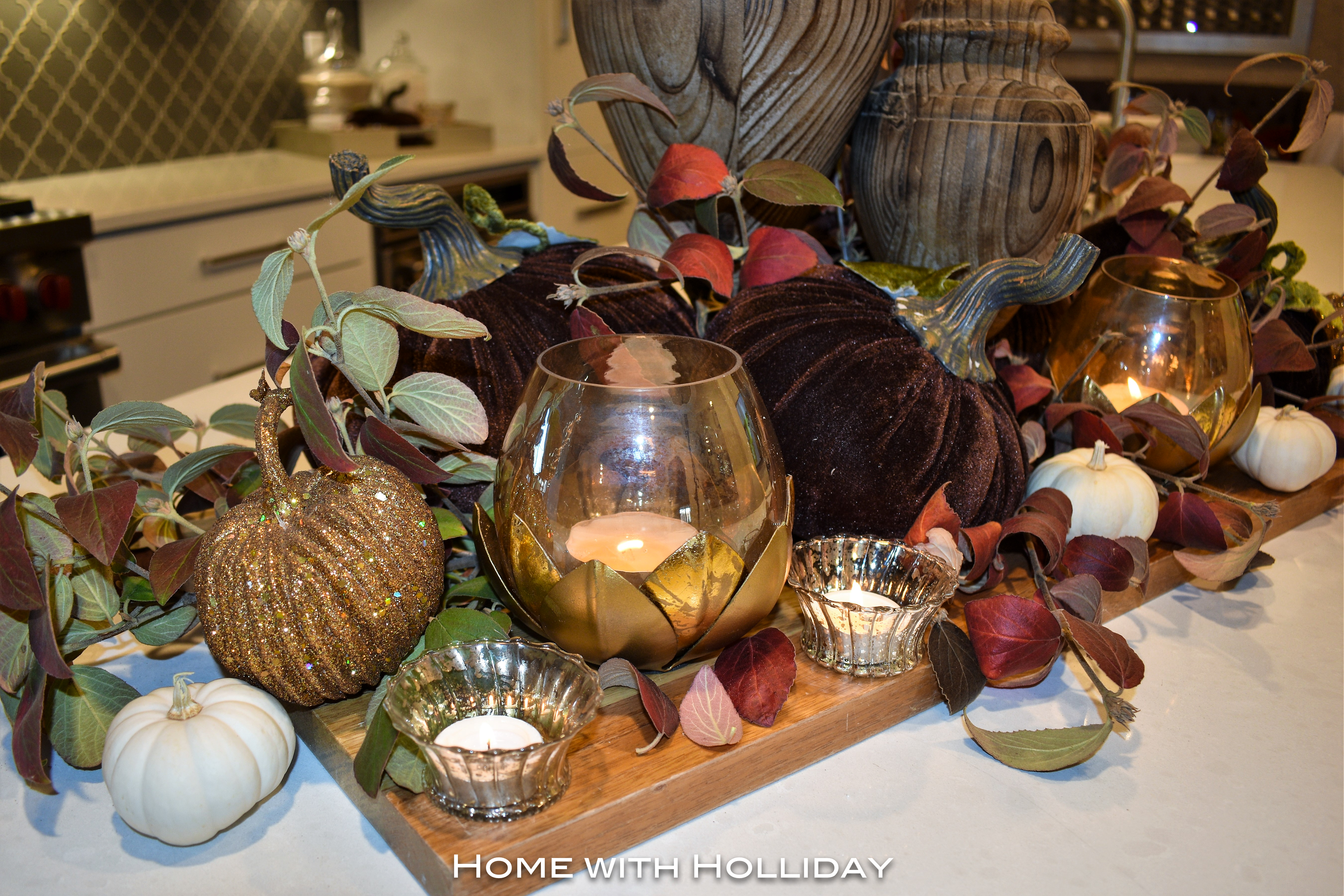Fall Centerpiece in Fall Kitchen Tour 3
