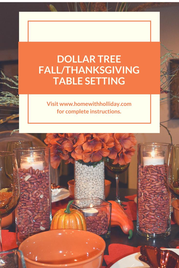 Dollar Tree Fall/Thanksgiving Table Setting