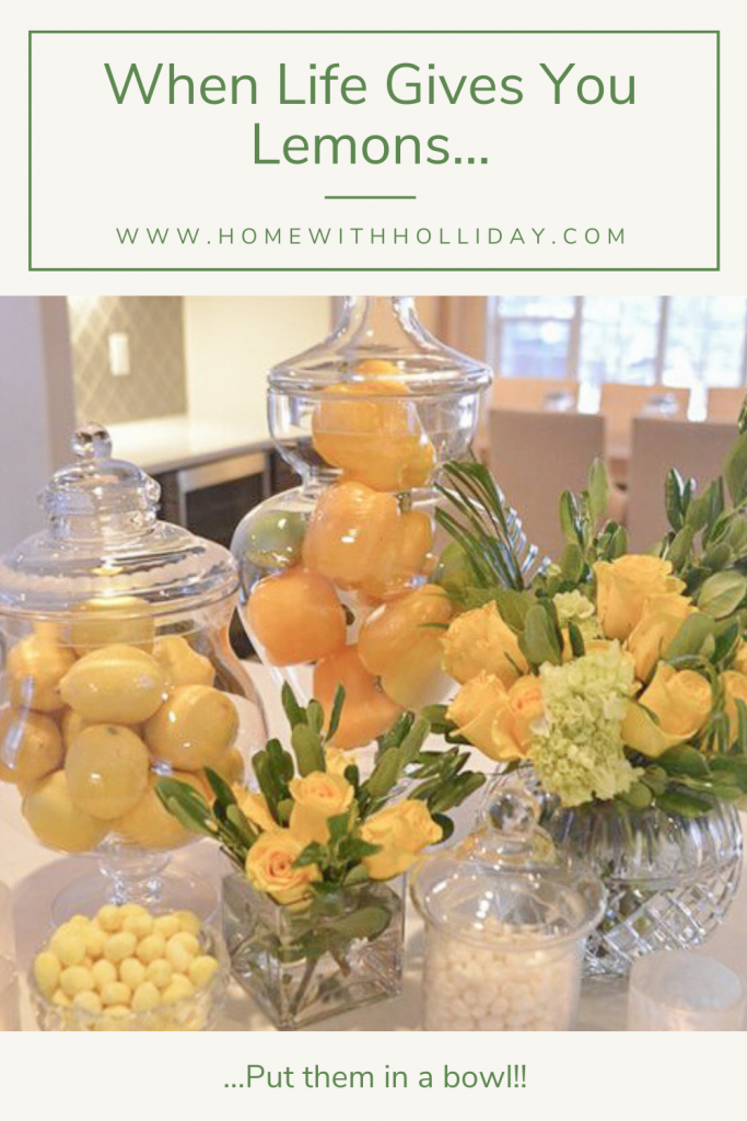 Lemons and Peppers used in Apothecary Jars for Home Decor