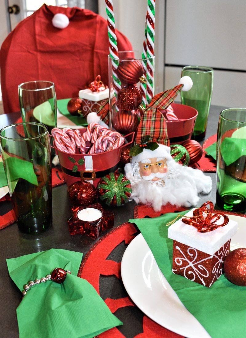 Dollar Tree Kid's Christmas Table Setting