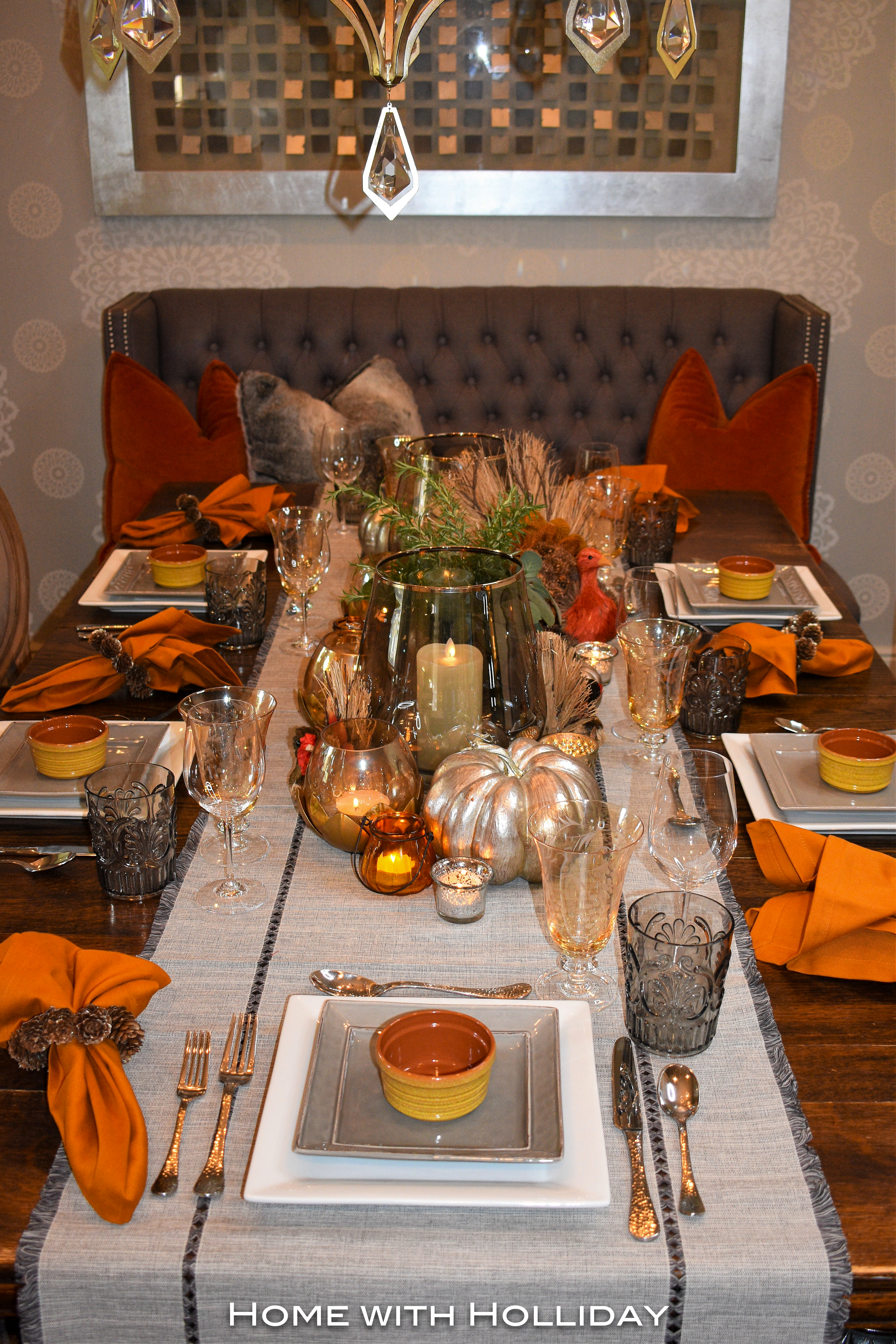 Simple Ideas for Fall Table Settings 1