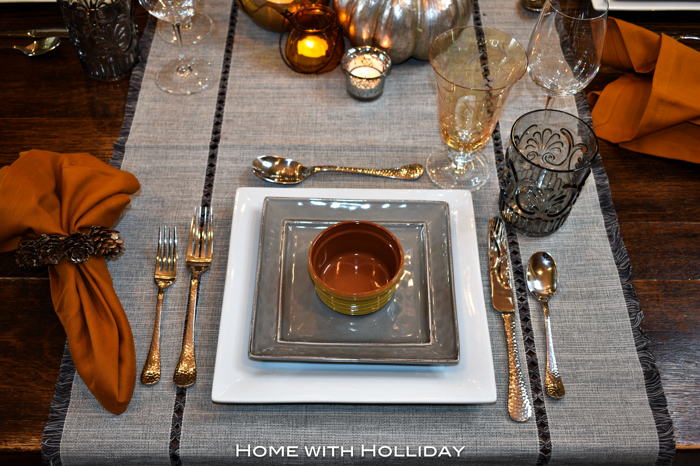 Casual Fall Table Setting - Place Setting