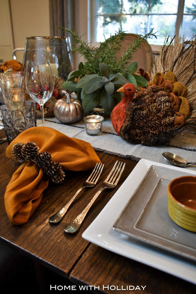 Rustic Casual Fall Table Setting