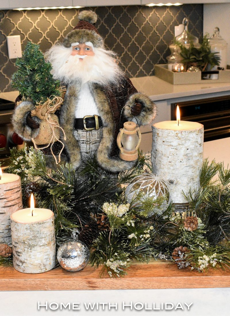 Rustic Winter Christmas Centerpiece