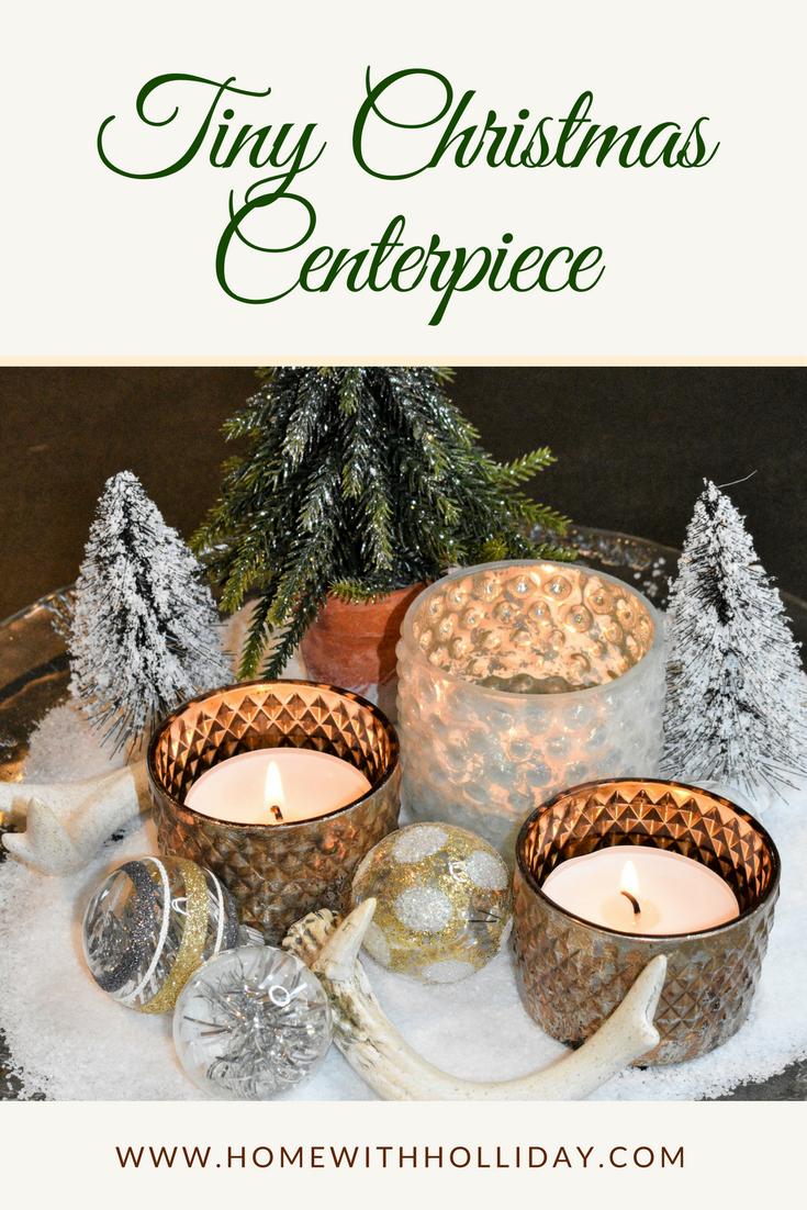 Tiny Christmas Centerpiece