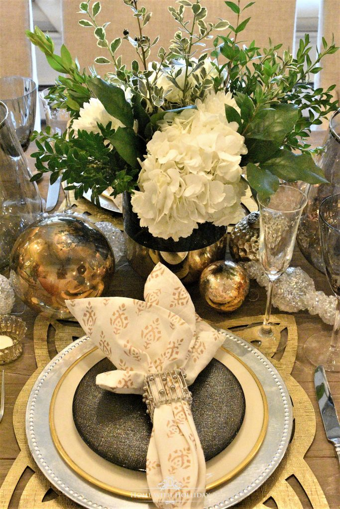 Gold And Silver Table Setting New Year S Eve Or