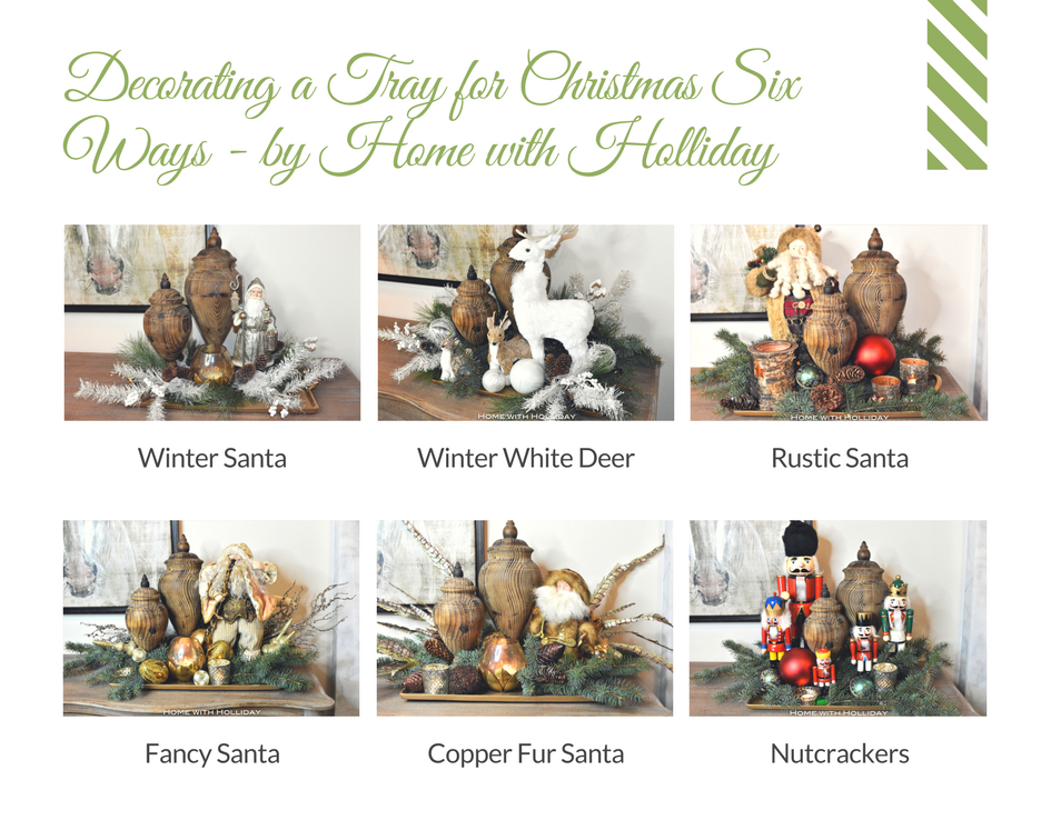 Decorating a Christmas Tray 6 Ways