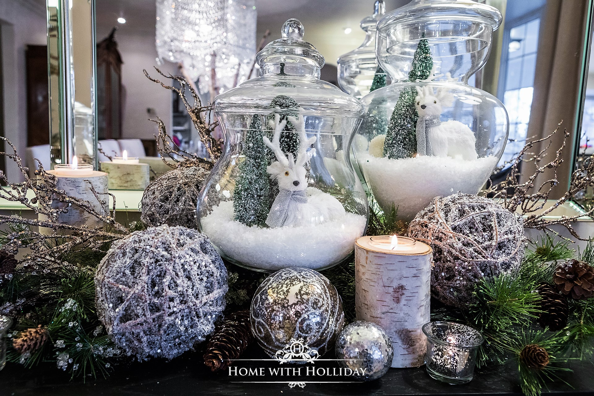 Using Apothecary Jars for Christmas Decorating - Home with Holliday