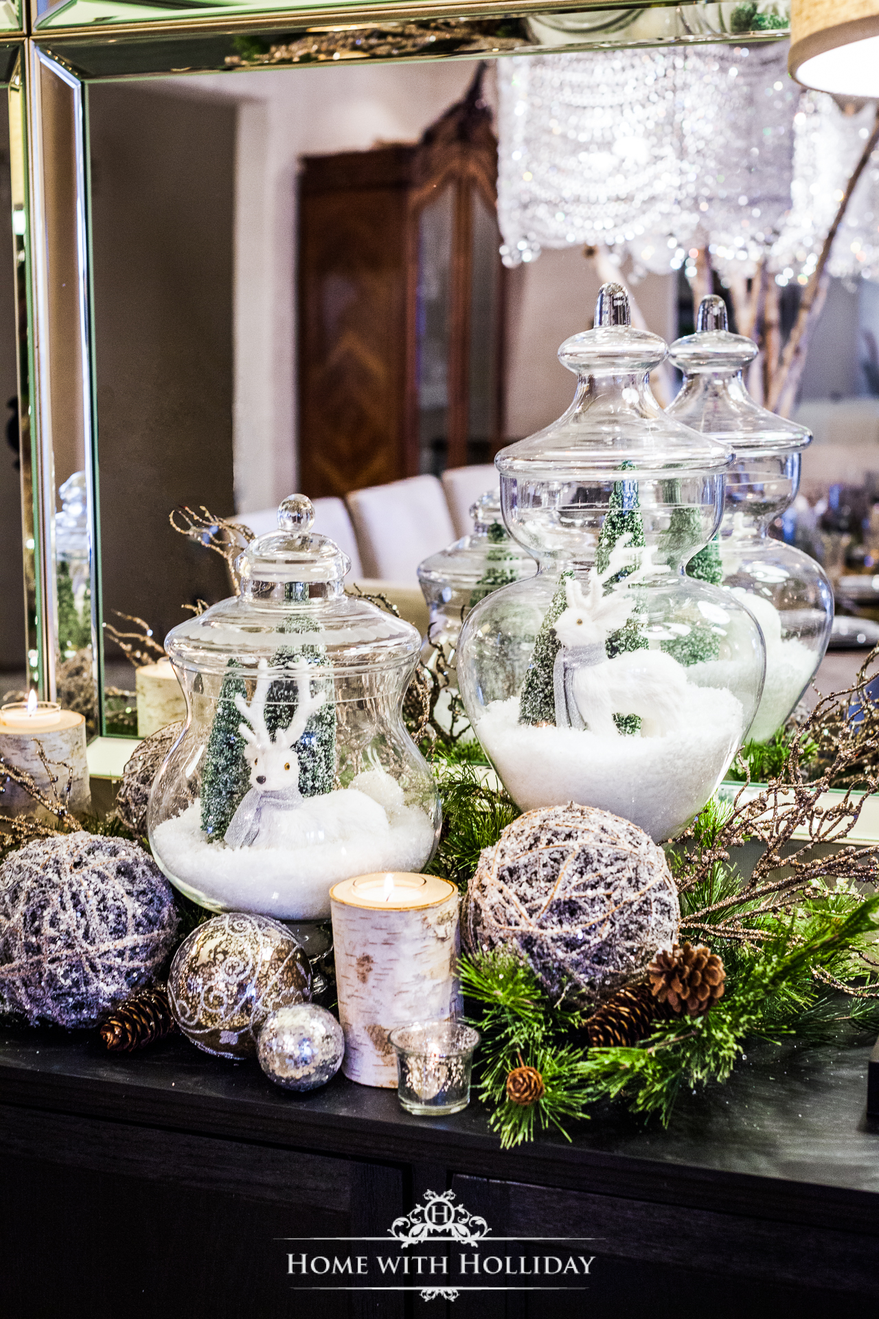 Using Apothecary Jars For Christmas Decorating Home With Holliday