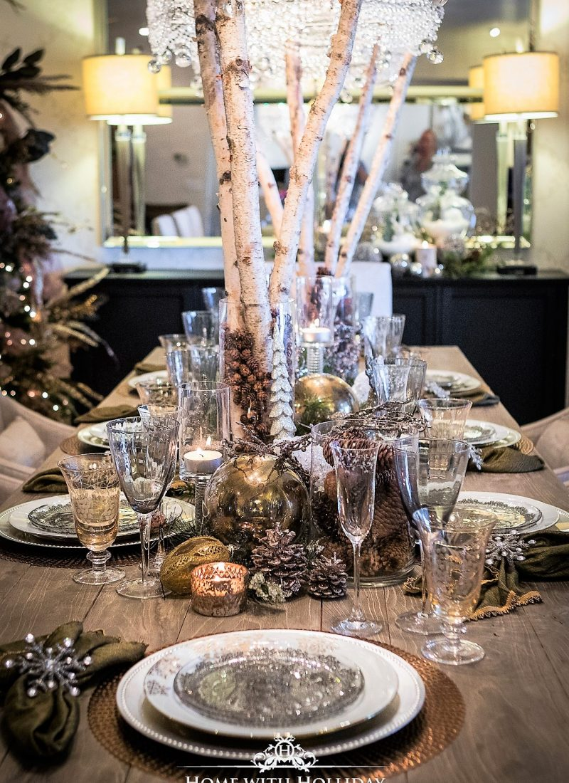 Christmas Home Tour 2017 – Winter Glam Dining Room