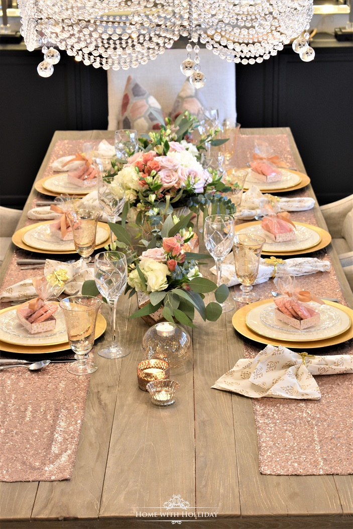 Blush Pink and Gold Galentine's Dinner Party
