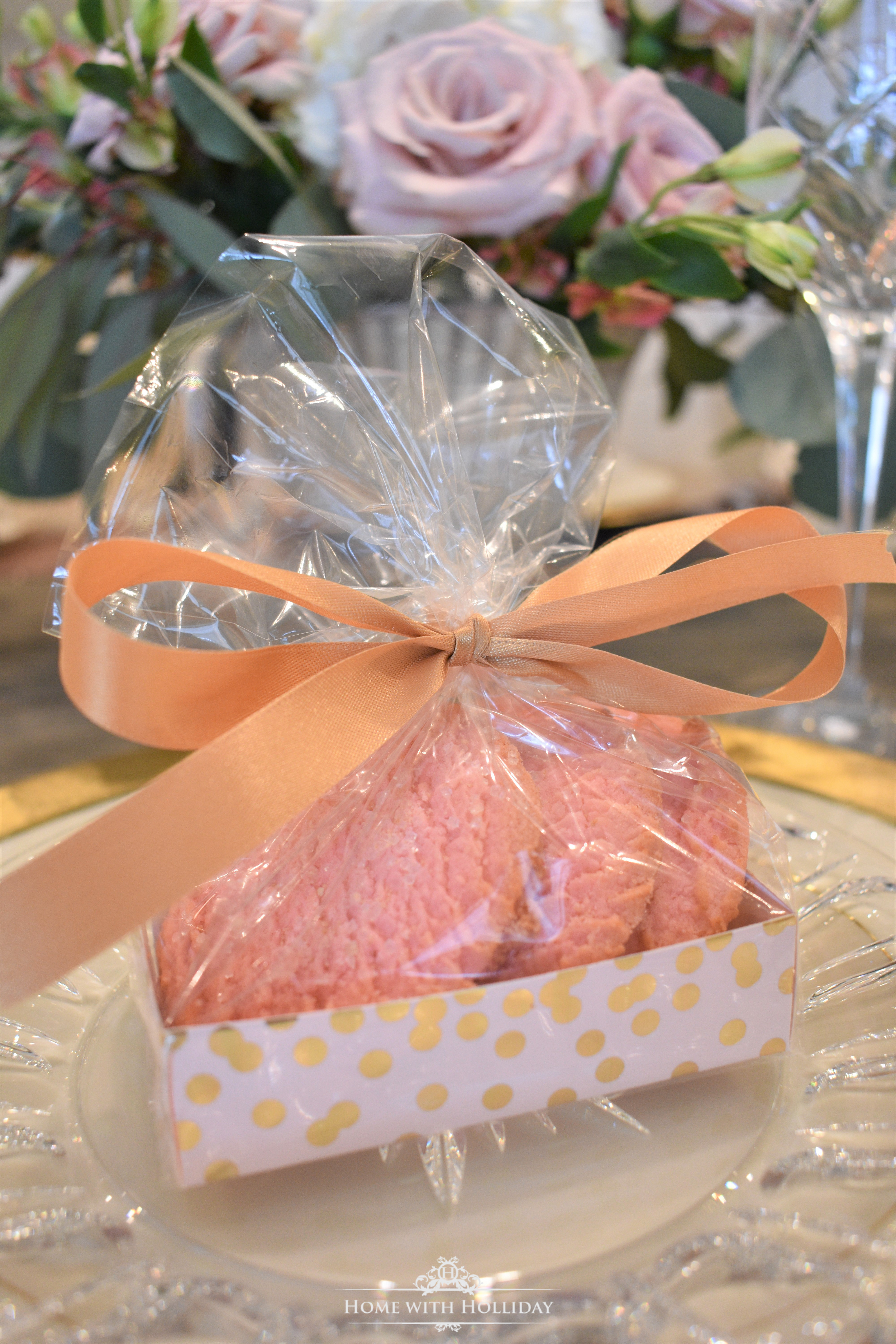 Party Favors for Blush Pink and Gold Galentine's Dinner Party - Home with Holliday