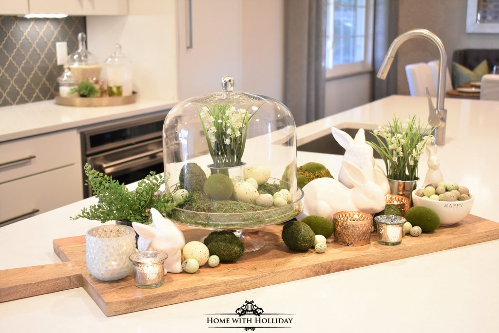 A Few Simple Green and White Easter Decorating Ideas - Home with Holliday