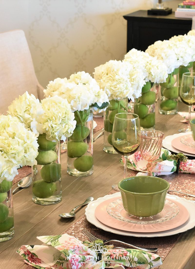 Spring Table Setting for Mother's Day Luncheon
