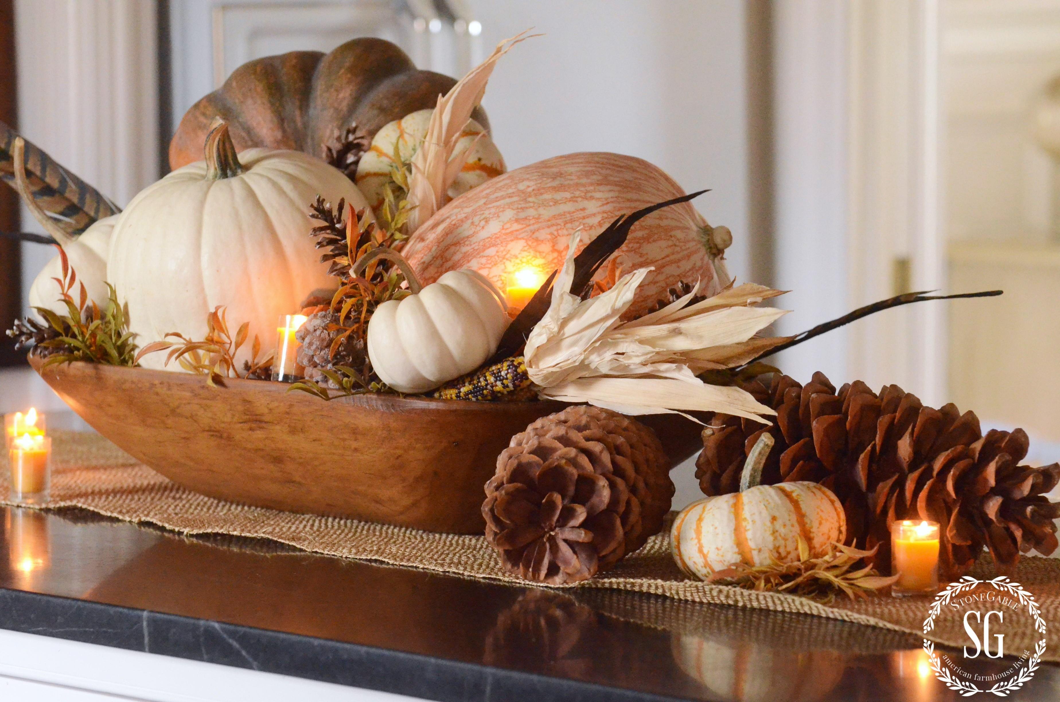 Creative Ideas for Fall or Thanksgiving Table Settings and Home Decor 21