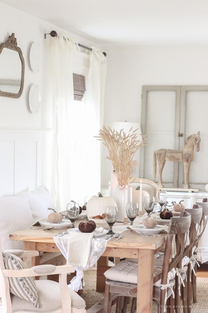 Creative Ideas for Fall or Thanksgiving Table Settings and Home Decor 2
