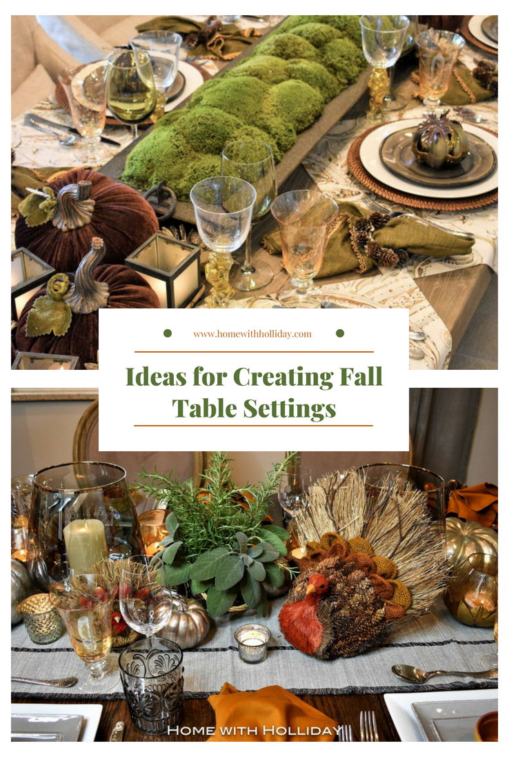 Simple Ideas for Fall Table Settings