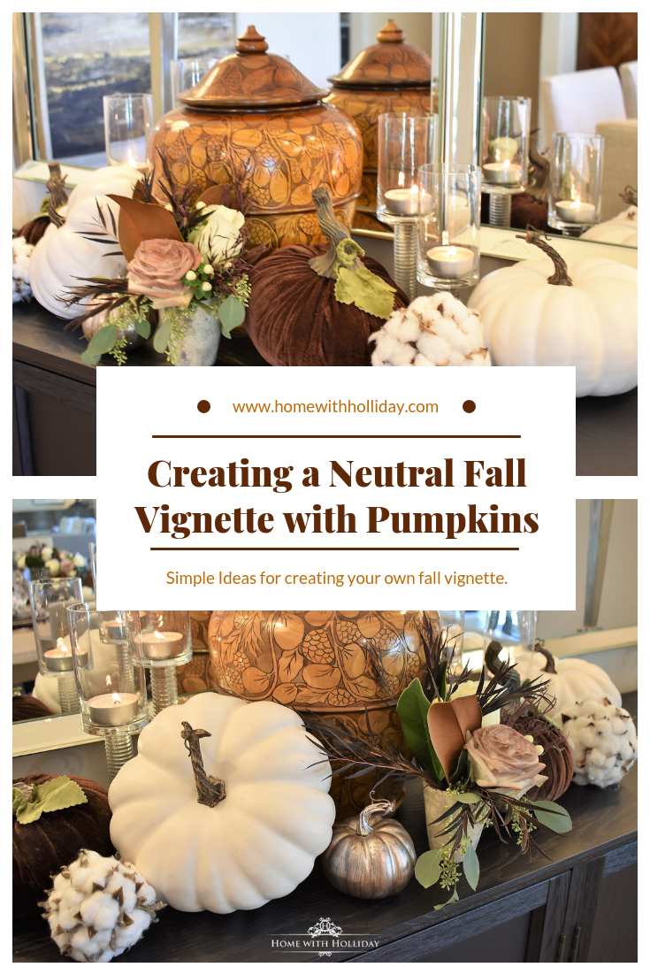 Creating a Neutral Fall Vignette with Pumpkins