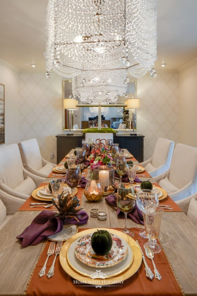 Awesome Dining Table Setting Ideas #4: Jewel-toned-Thanksgiving-Table-Setting-1-683x1024.jpg