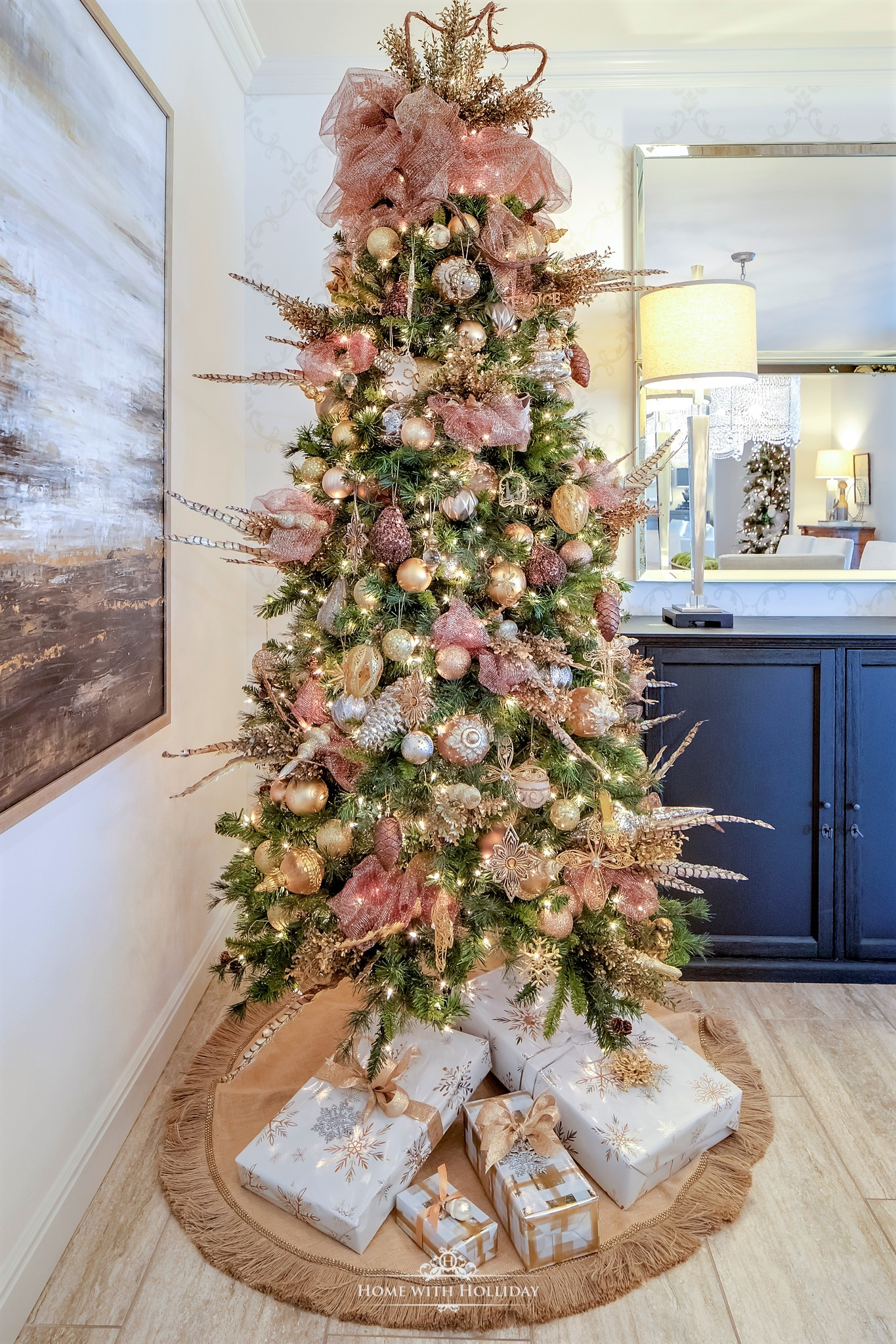 Mixed Metallic Christmas Tree - Home with Holliday