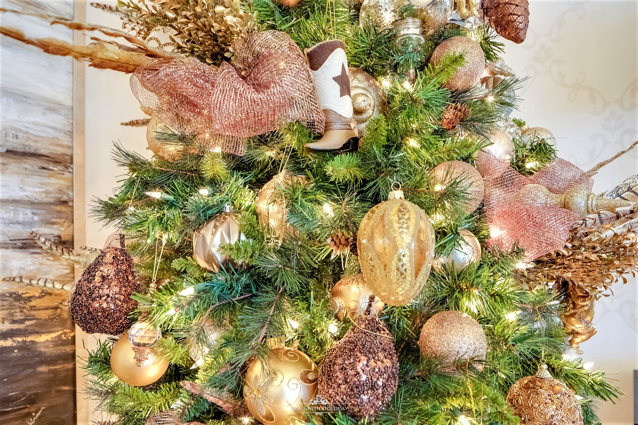 Changes to my Mixed Metallic Christmas Tree - Home with Holliday