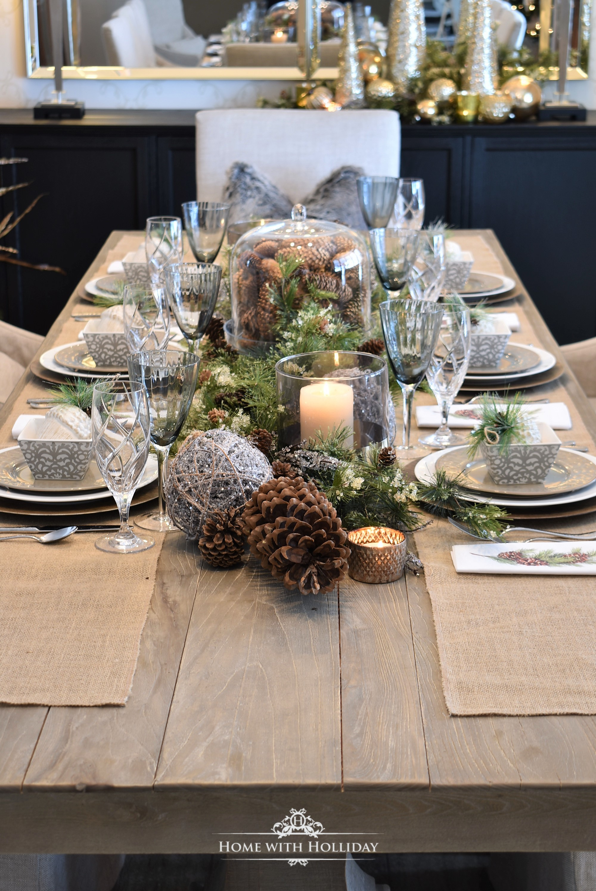 Christmas Table Settings, Decor, and More - Home with Holliday
