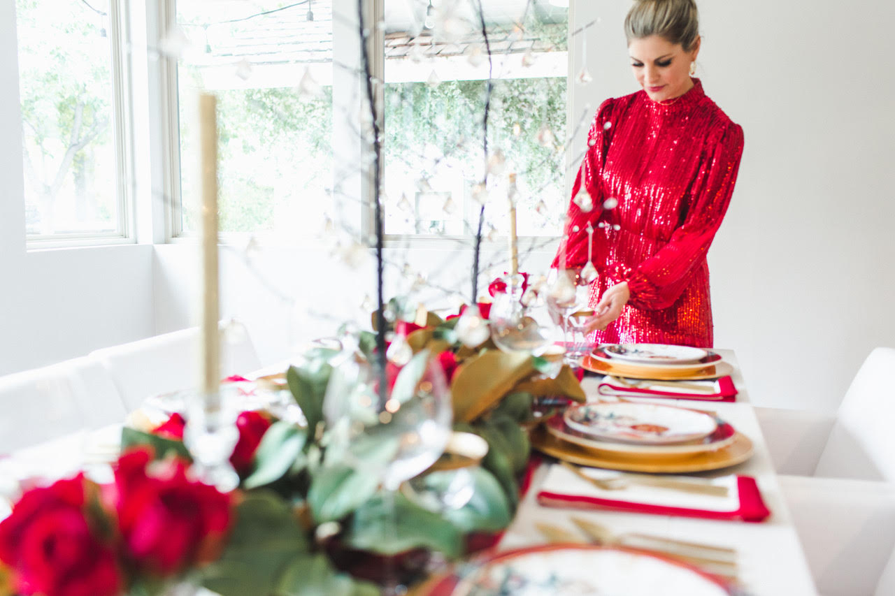 Holiday Hosting at Home #5: Christmas Table Settings, Decor, and More - Home with Holliday