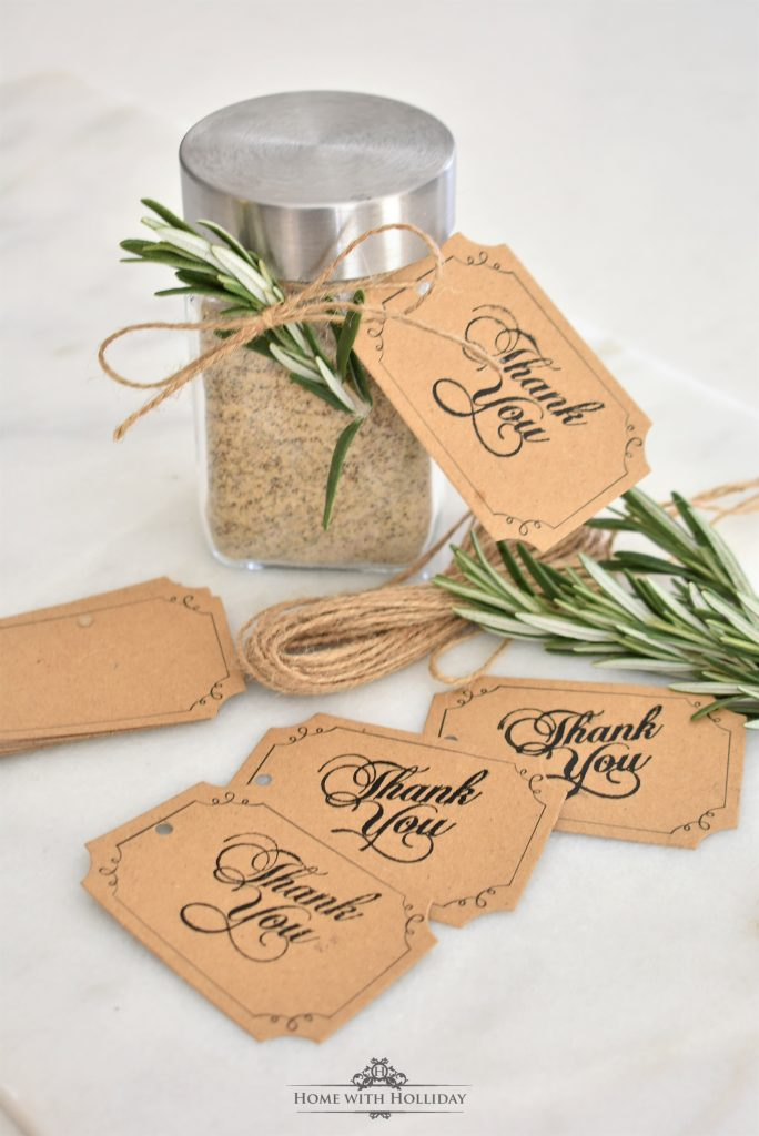 Tags for my Holiday's Homemade House Seasoning Gifts - Home with Holliday