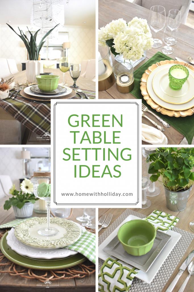 Green Table Setting Ideas