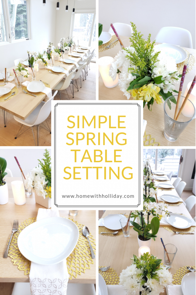 Simple Spring Table Setting for a Sushi Party - Home with Holliday