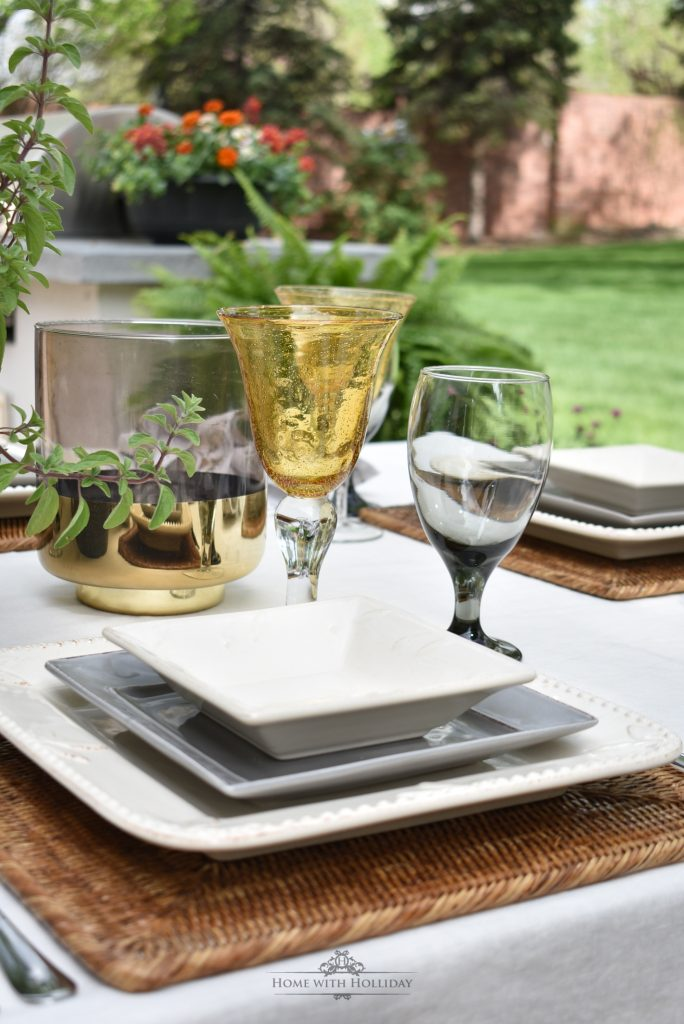Placesetting for an Alfresco Dinner Party for Father's Day - Home with Holliday