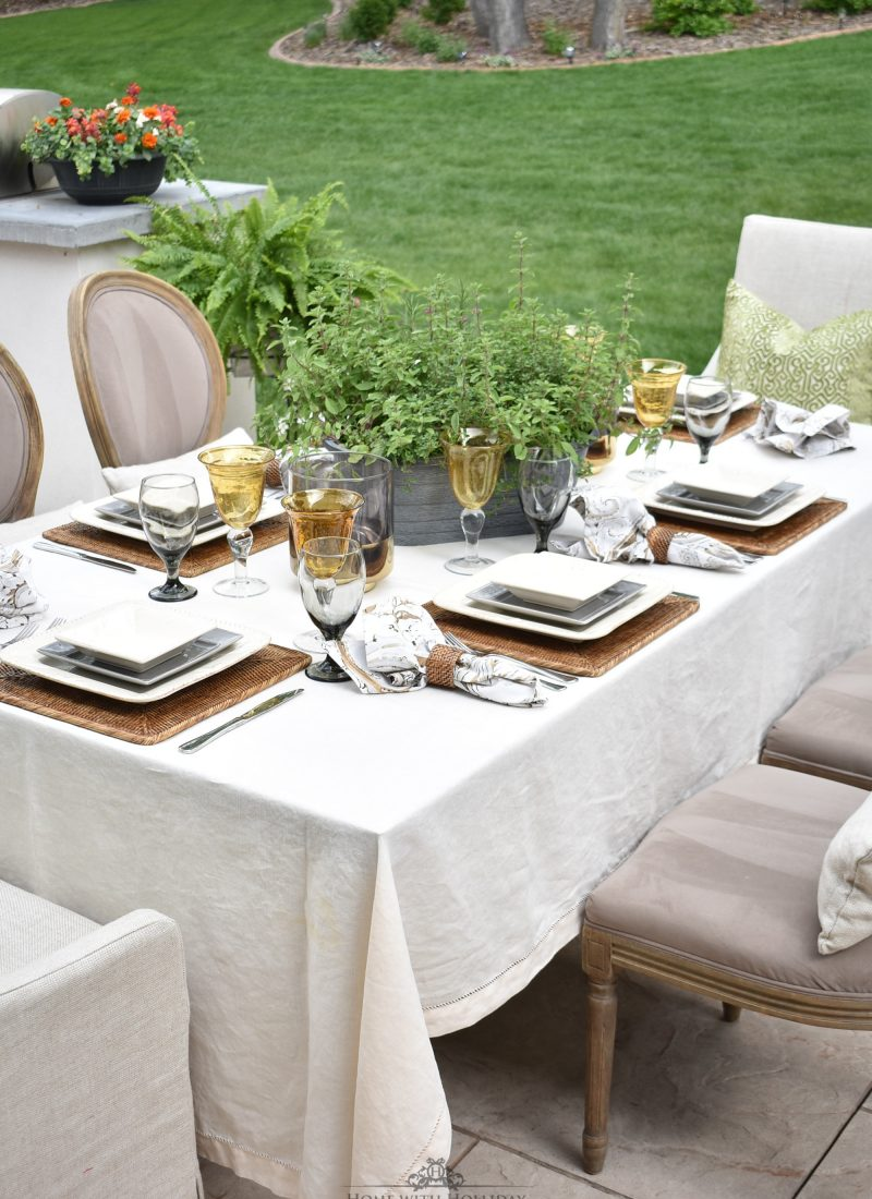 Alfresco Dinner Party for Father's Day - Home with Holliday