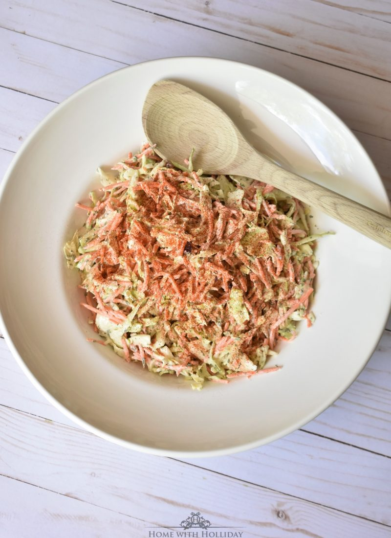 Tangy Garlic Coleslaw