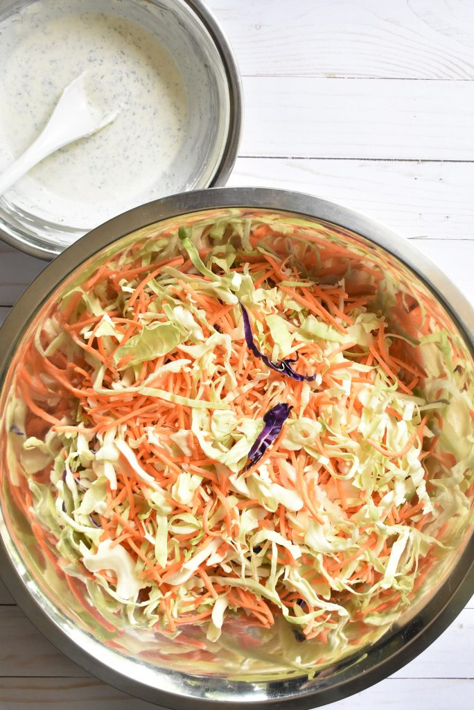 Simple Tangy Garlic Coleslaw - Home with Holliday