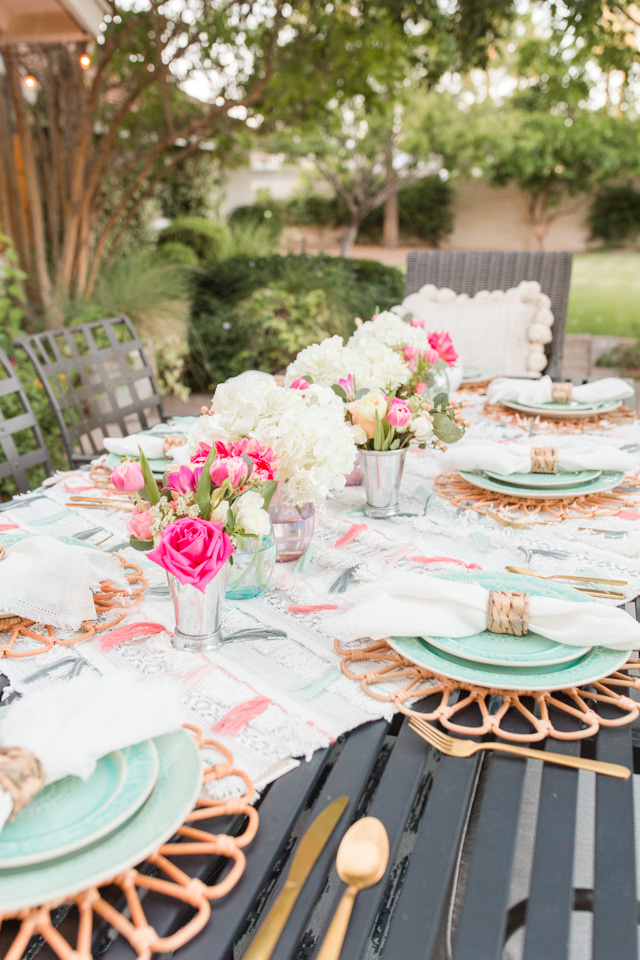 Simple Backyard Party Ideas: Anthropologie-Inspired Dinner Party - Home with Holliday