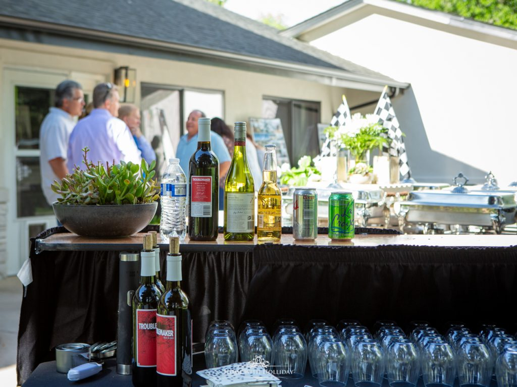 Black and White Outdoor Graduation Party Bar - Home with Hollida