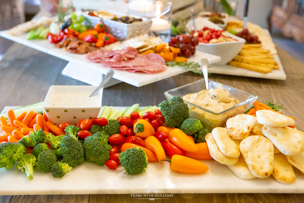 Modern Rustic Bridal Shower Buffet - Home with Holliday