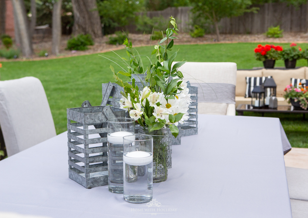 Modern Rustic Bridal Shower Outdoor Setting - Home with Holliday
