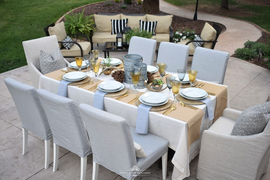 A Rustic Alfresco Summer Table Setting - Home with Holliday