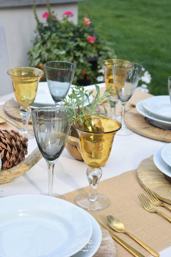 Our Rustic Alfresco Summer Table Setting - Home with Holliday