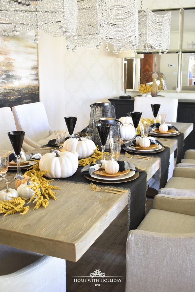 Our Rustic Harvest Gold Fall Tablescape - Home with Holliday