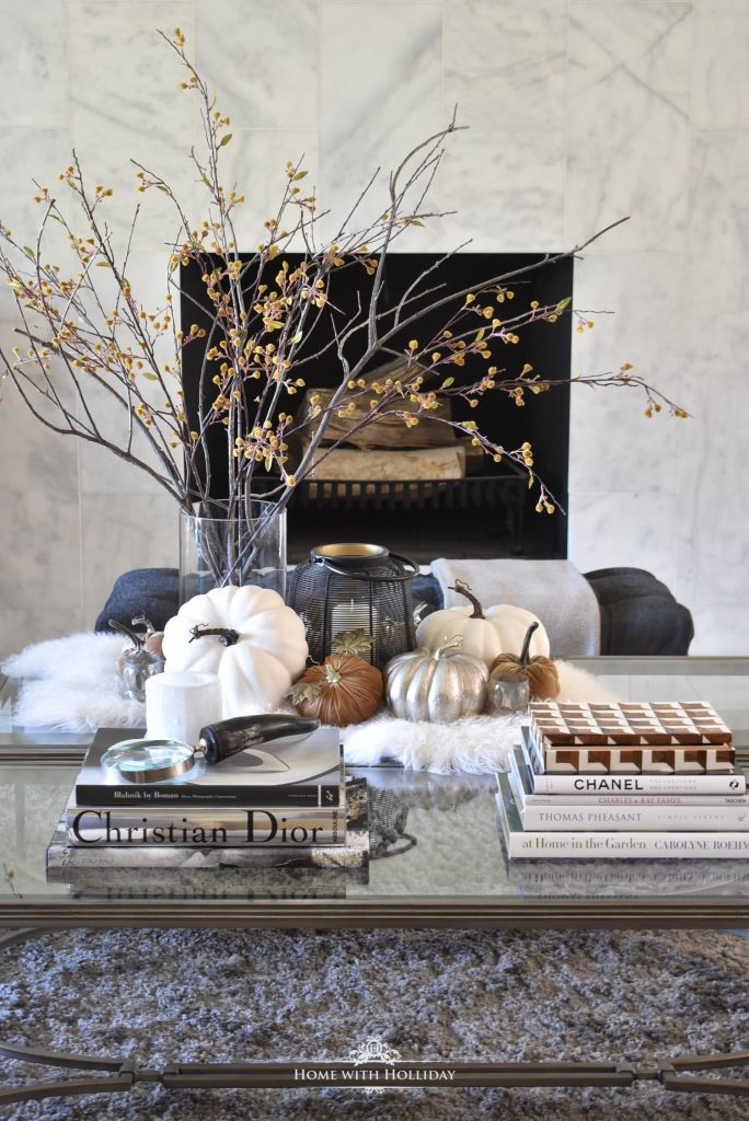 Books for our Warm and Cozy Fall Coffee Table Styling