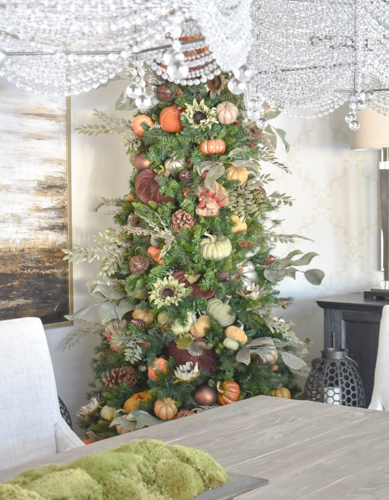 Easy Autumn Thanksgiving Tree with Pumpkins - Home with Holliday