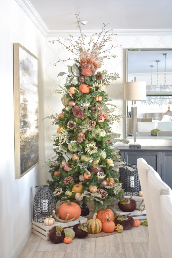 10 Posts of 2019 - Autumn Thanksgiving Tree with Pumpkins