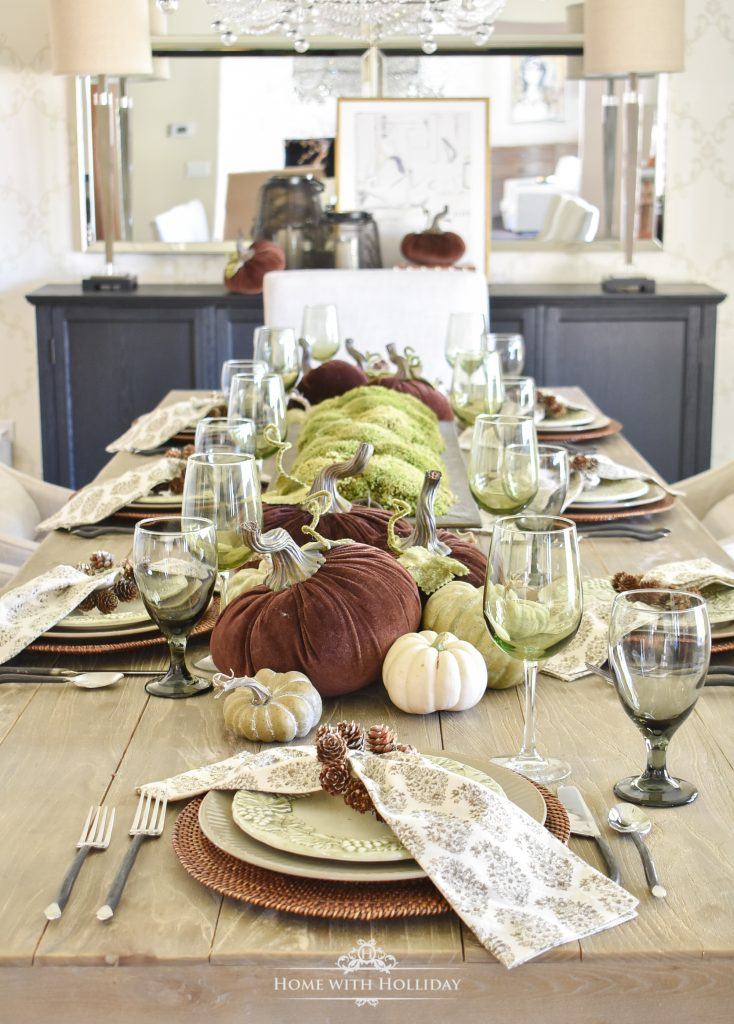 Our Rustic Pumpkin Fall Tablescape - Home with Holliday