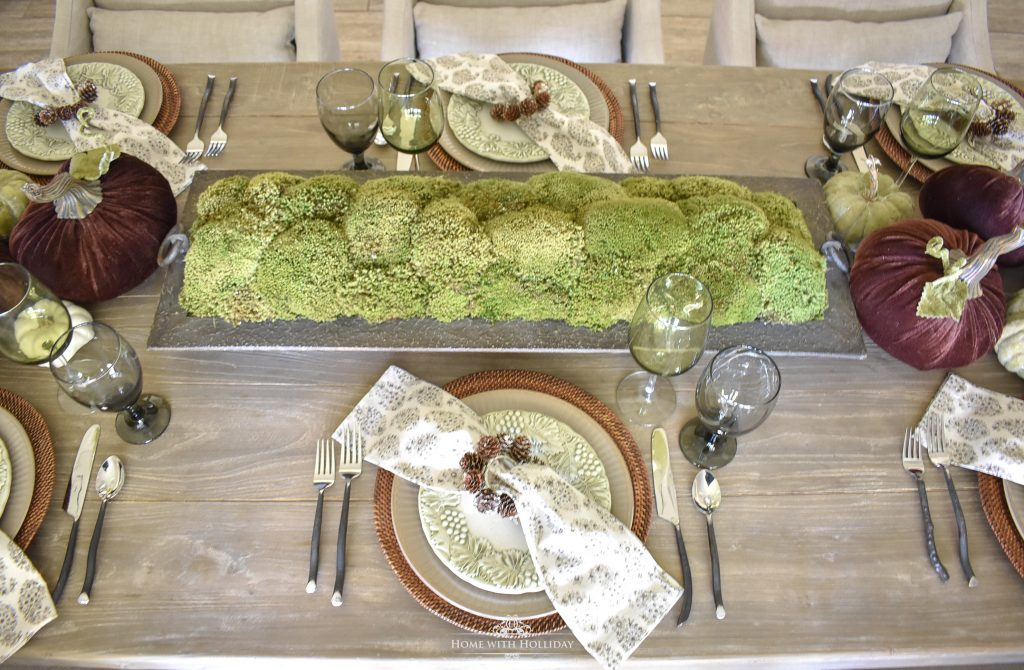 Rustic Pumpkin Fall Tablescape Centerpiece - Home with Holliday